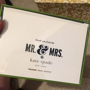 KATE SPADE MR AND MRS THANK YOU CARDS